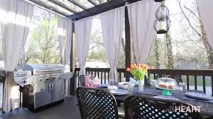 Gazebo Curtain Ideas by Diy Galvanized Pipe Rods U0026 Drop Cloth Drapes Withheart Youtube