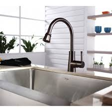 kitchen faucet stainless steel kraus khf200 33 kpf2220 ksd30sn stainless steel 33 inch farmhouse