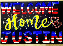 homecoming ideas welcome home signs for marines best 25 homecoming signs