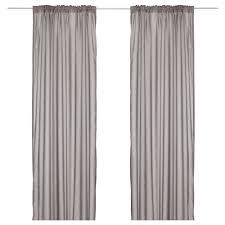 Black And White Striped Curtains Ikea Vivan Curtains 1 Pair Grey 145x250 Cm Ikea