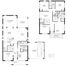 l small double storey house plan singular two story plans narrow