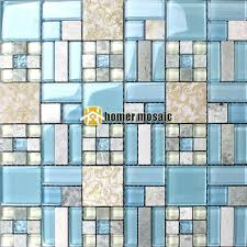 blue glass kitchen backsplash get cheap blue mosaic glass tile aliexpress com alibaba