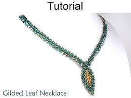 leaf pattern necklace beading tutorial pattern necklace diagonal peyote stitch simple