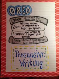 Examples Of Persuasive Essays For College Students Persuasive Writing Anchor Chart Oreo Writing Writing Resources