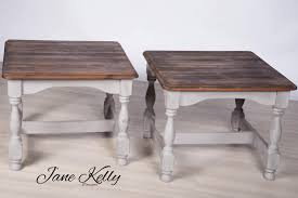 these two pine rustic small coffee tables come as a matching