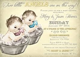 coed baby shower invitation for twins vintage diy