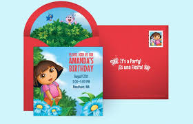 template stylish free dora birthday invitation cards with hd