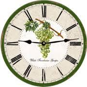 grape wall clock tuxedo black grape wall clock