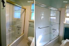 Brass Shower Door Bathroom Makeover Is Easy As 1 2 3 Homejelly