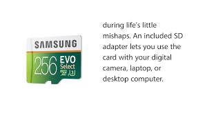 Memory Card Samsung 256gb samsung evo select micro sdxc memory card 256gb 95mbs