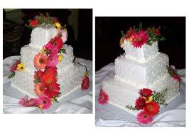 just made this gerbera daisy wedding cake this past weekend it