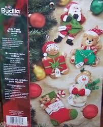 bucilla christmas bucilla christmas gift card ornaments felt ornament kit oop 5