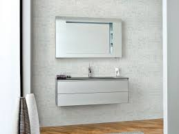 bathroom 44 inch mirrored bathroom vanity with white carrara marble