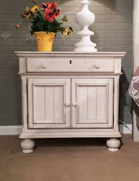 American Woodcrafters Newport 2 Door Nightstand In Antique White By American