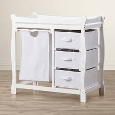 Changing Table Baby Sleigh Style Baby Changing Table With 3