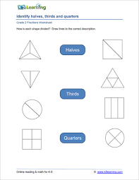 2nd grade fractions worksheets k5 learning