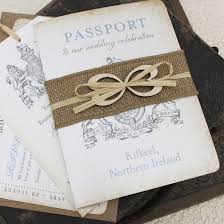 wedding invitations northern ireland ireland crest passport wedding invitation kilkeel ireland