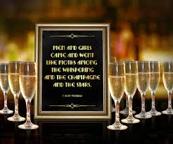 Great Gatsby Themed Party Decorations Great Gatsby Themed Party Decor Quote By F Scott Fitzgerald