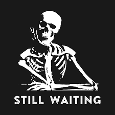 still waiting meme still waiting t shirt teepublic