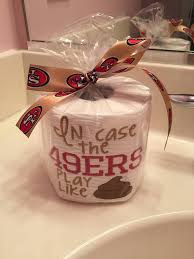 christmas gifts for 49ers fans san francisco 49ers embroidered toilet paper gift from