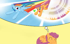 my little pony friendship is magic rainbow dash and scootaloo