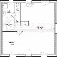 plan maison 2 chambres plain pied plan maison plain pied 1 chambre unique élégant plan maison plain
