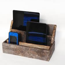primitive decor home cell phone charging station by cleverruthie