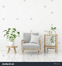 white livingroom interior scandinavian style gray stock