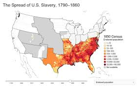 map usa in 1800 mapping the spread of american slavery the backward glance