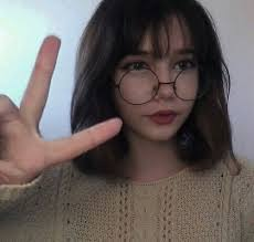 short hairstyles with glasses and bangs image de aesthetic asian and short hair hair inspiration