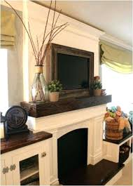 Faux Fireplace Tv Stand - media storage fireplace tv stand above love nook bookshelves