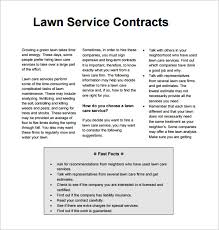 9 lawn service contract templates u2013 free word pdf documents