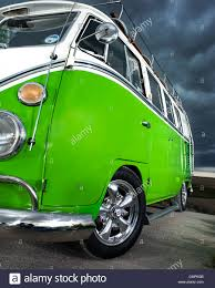 Green Vw Volkswagen Split Screen Camper Van Bus Hippie Hippy 1960s