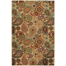 Rubber Area Rugs Rubber Back Ivory Paisley Floral Non Skid Area Rug 3 U00273 X 5