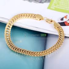 hand chains bracelet images Fashion men 18k gold plated copper thick wristband hand chain band jpg