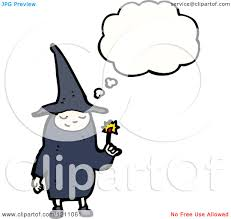 cartoon of a child in a witch costume speaking royalty free