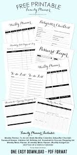 free printable family planner the creative