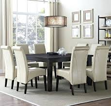 white parsons chair appealing white parsons chair slipcovers with white rug and wood table plus chandelier