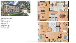 Continental Homes Floor Plans Modular Home Two Story 785 1 Jpg