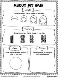 about my hair printable worksheets hair looks and the length