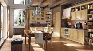 plan de travail noyer cuisine classique de luxe jaune idéale pour une maison de campagne