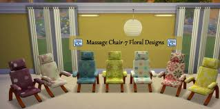 Sims 4 Furniture Sets Mod The Sims Massage Chair And Table Set In 7 Floral Designs
