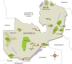 map of zambia map of zambia detailed country information fast facts