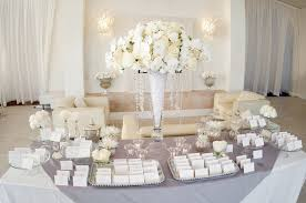 wedding reception table white ivory wedding reception welcome table cards
