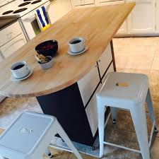 kitchen island using expedit or kallax inserts with doors
