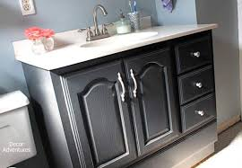 Painting A Bathroom Vanity Before And After by Chalk Paint Bathroom Vanity Makeover A Full Review U0026 Step By Step