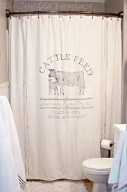 Western Bathroom Shower Curtains The Cozy Farmhouse Guest Bathroom Farmhouse Makeover