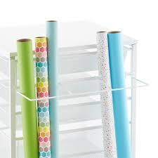 white elfa gift wrap organizer the container store