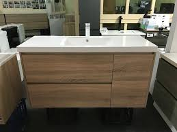 moda 1200mm plywood white oak timber wood grain bathroom vanity