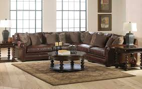 Leather Sectional Living Room Furniture Complete Living Room Sets With Awesome Brown Sofa And Wooden